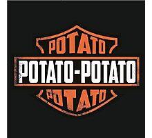 Harley Davidson Potato Photographic Print