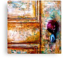 The Red Door Knob Canvas Print