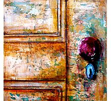 The Red Door Knob Photographic Print