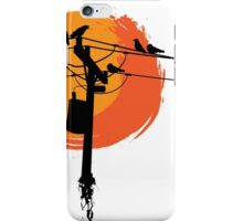 Birds on Wires with Sunset iPhone Case/Skin