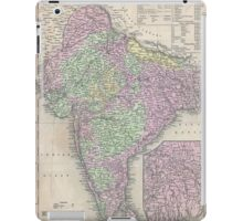 Vintage Map of India (1853) iPad Case/Skin