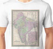 Vintage Map of India (1853) Unisex T-Shirt