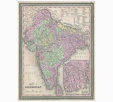 Vintage Map of India (1853) Unisex T-Shirt