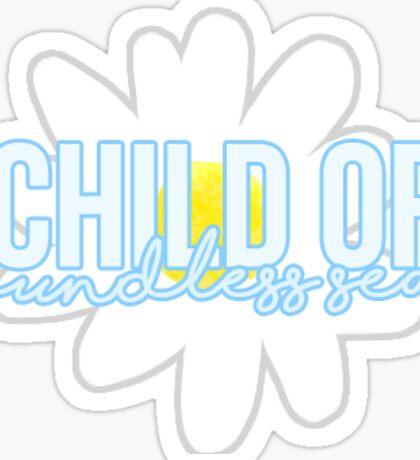 Child of Boundless Seas | Daisy Sticker