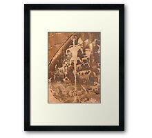 Newspaper Rock .4 Framed Print