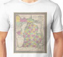Vintage Map of Michigan (1853) Unisex T-Shirt