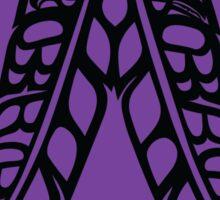 Eagle & Raven Feathers on Purple Sticker