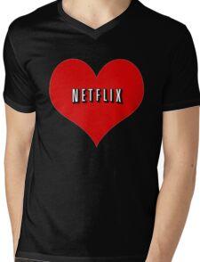 I Love Netflix Mens V-Neck T-Shirt