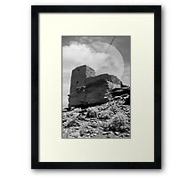 Full Moon Desert Ruins Framed Print
