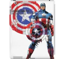 Captain America Gridwork and Logo iPad Case/Skin