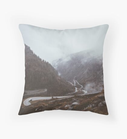 Cars and Curves Throw Pillow