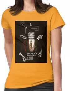 Salvador Dali Surreal Potrait  Womens Fitted T-Shirt