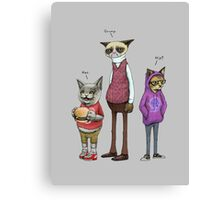 Cool Cat Brother Canvas Print