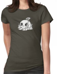 worm in skull Womens Fitted T-Shirt