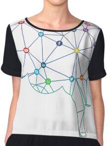 Brain Social Network Chiffon Top