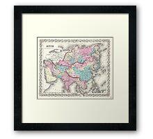 Vintage Map of Asia (1855)  Framed Print