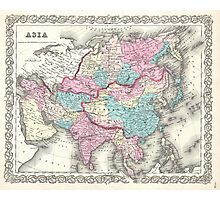 Vintage Map of Asia (1855)  Photographic Print