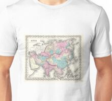 Vintage Map of Asia (1855)  Unisex T-Shirt