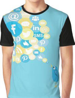 Social Media Twitter Bird Graphic T-Shirt