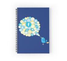 Social Media Twitter Bird Spiral Notebook