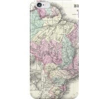 Vintage Map of Brazil (1855) iPhone Case/Skin