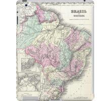 Vintage Map of Brazil (1855) iPad Case/Skin