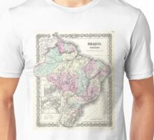 Vintage Map of Brazil (1855) Unisex T-Shirt