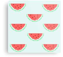 8-bit Watermelon  Metal Print