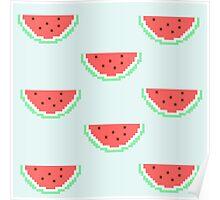 8-bit Watermelon  Poster