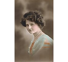 Edwardian lady in blue Photographic Print