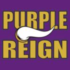 Purple Reign T-Shirt - Vikings by DCCClothingCo