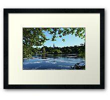 Beautiful river landscape  Framed Print