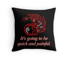 Red Mana: Fiery Beatdown Throw Pillow