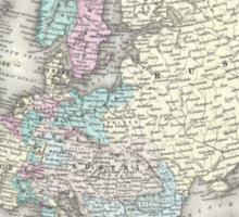 Vintage Map of Europe (1855)  Sticker