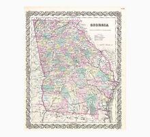 Vintage Map of Georgia (1855) Unisex T-Shirt