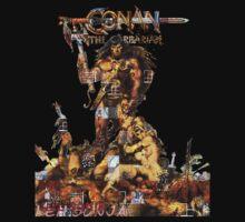 Conan Gridwork and Logo Kids Tee