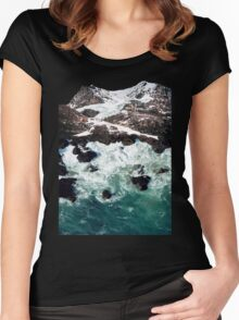 Sea and Mountains Women's Fitted Scoop T-Shirt