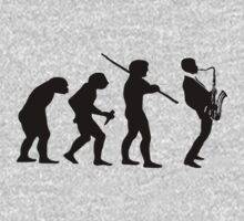 evolution of jazz t-shirt Kids Tee