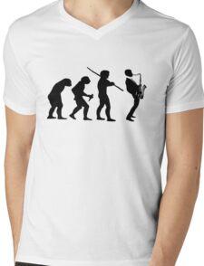 evolution of jazz t-shirt Mens V-Neck T-Shirt