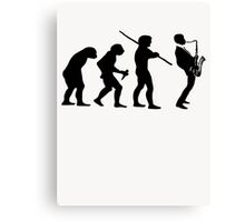 evolution of jazz t-shirt Canvas Print