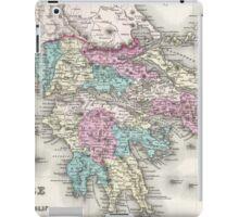 Vintage Map of Greece (1855)  iPad Case/Skin