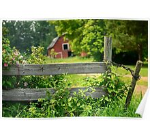 The Fence and Barn Poster
