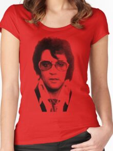 elvis t-shirt Women's Fitted Scoop T-Shirt