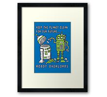 Robot Earth Framed Print