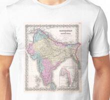 Vintage Map of India (1855) Unisex T-Shirt
