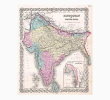 Vintage Map of India (1855) Unisex T-Shirt