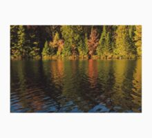 Colorful Ripples - Forest Lake in Autumn Kids Tee
