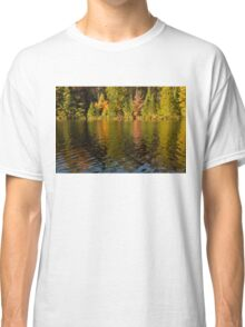 Colorful Ripples - Forest Lake in Autumn Classic T-Shirt