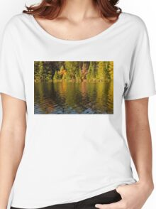 Colorful Ripples - Forest Lake in Autumn Women's Relaxed Fit T-Shirt