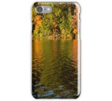 Colorful Ripples - Forest Lake in Autumn iPhone Case/Skin